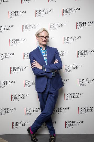 Hamish Bowles, editor de Vogue USA, en su visita a Condé Nast College Spain.